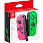 Nintendo Joy-Con (L/R) Wireless Controllers, Neon Pink/Neon Green HACAJAHAA