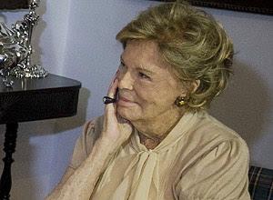 Lily Marinho no almoço que ofereceu em julho de 2010 a Dilma Rousseff, então candidata do PT à Presidência
