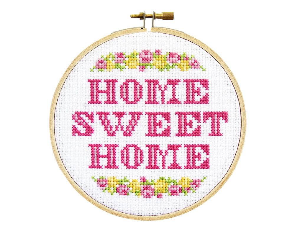 Counted Cross Stitch Kit Home Sweet Home The Stranded Stitch