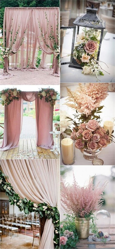 Trending 24 Dusty Rose Wedding Color Ideas for 2017   Rose