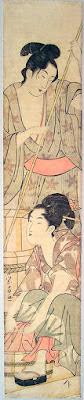 Hosoda Eisho (Chokosai Eisho). - A hashira-e pillar print. © Copyright 1998-2014