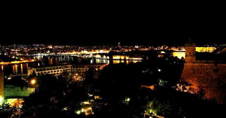 Grand Harbour by night — Valletta, Malta