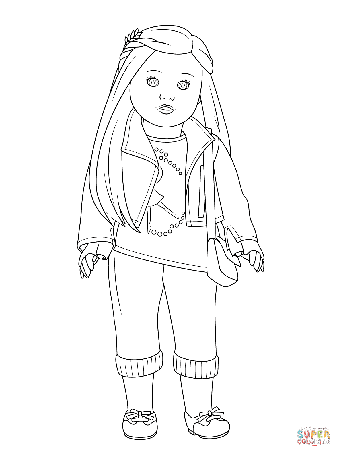 Download Doll coloring pages to download and print for free
