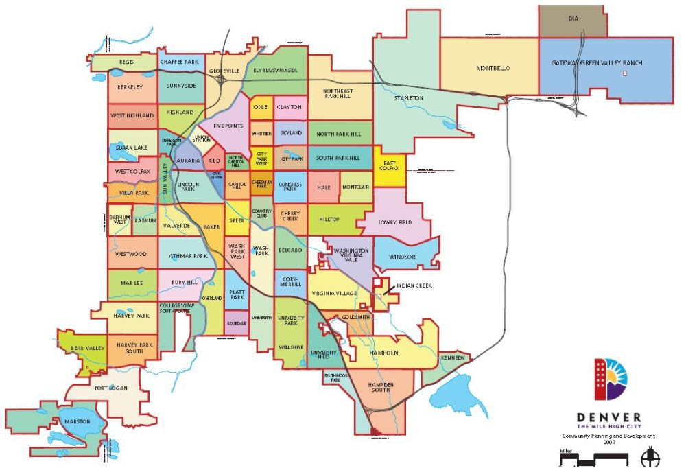 Denver County Maps | GOOGLESAND on