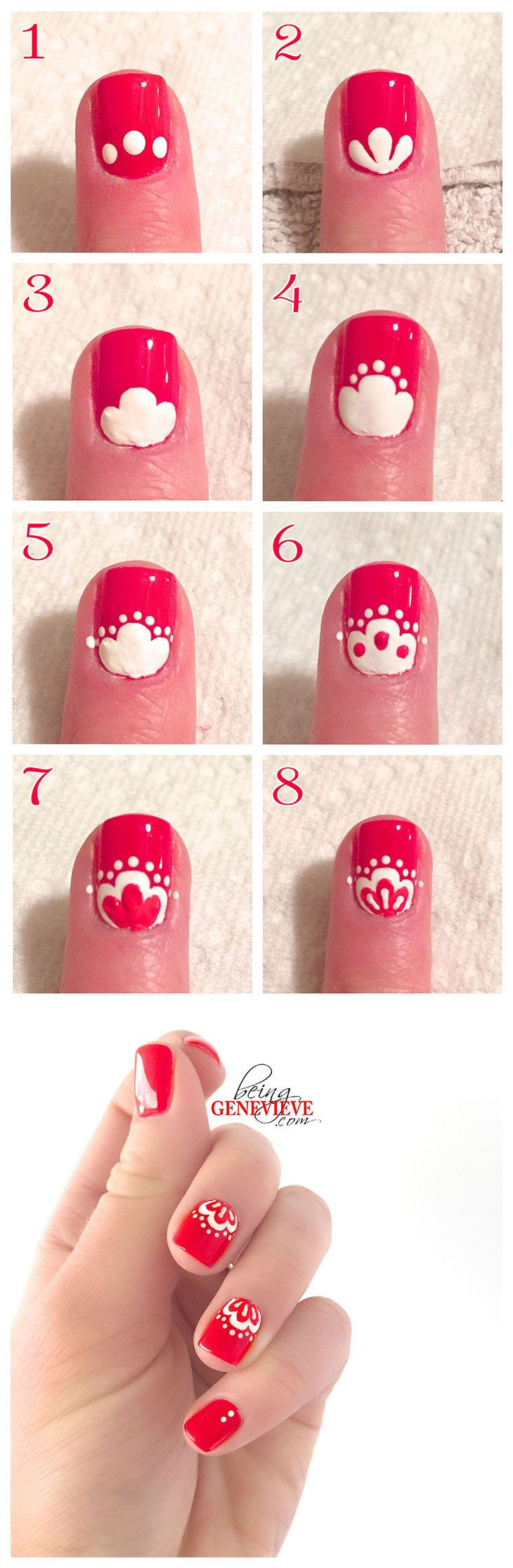25 Easy Step By Step Nail Tutorials For Girls Pretty Designs
