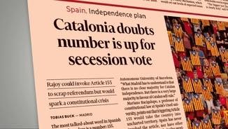 """L'article del diari britànic """"Financial Times"""" en què es parla de la possibilitat d'aplicar l'article 155 de la Constitució"""