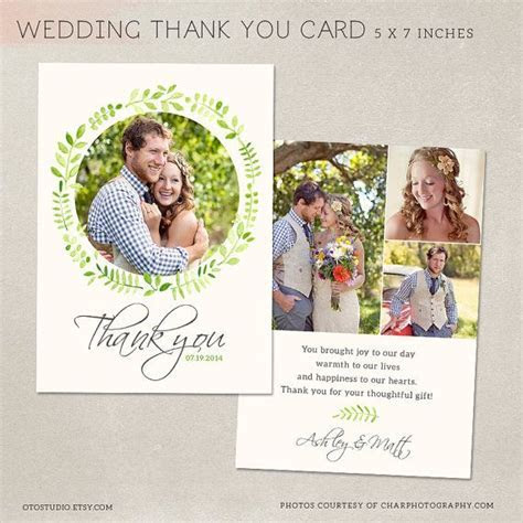Wedding Thank You Card   Template for Photographers PSD