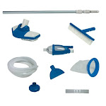 Intex 28003E Deluxe Above Ground Pool Maintenance Kit for 800 GPH (Color Varies) by VM Express