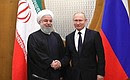 СПрезидентом Ирана Хасаном Рухани.