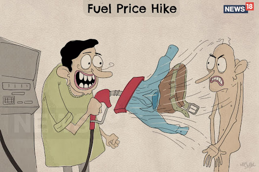 Cartoons on Fuel Price Hike In India 2018 - WhatsApp Text | Jokes | SMS | Hindi | Indian