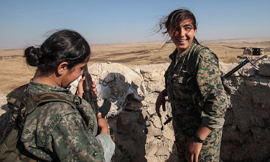 ISIS is afraid of girls, claim feared Kurdish fighters