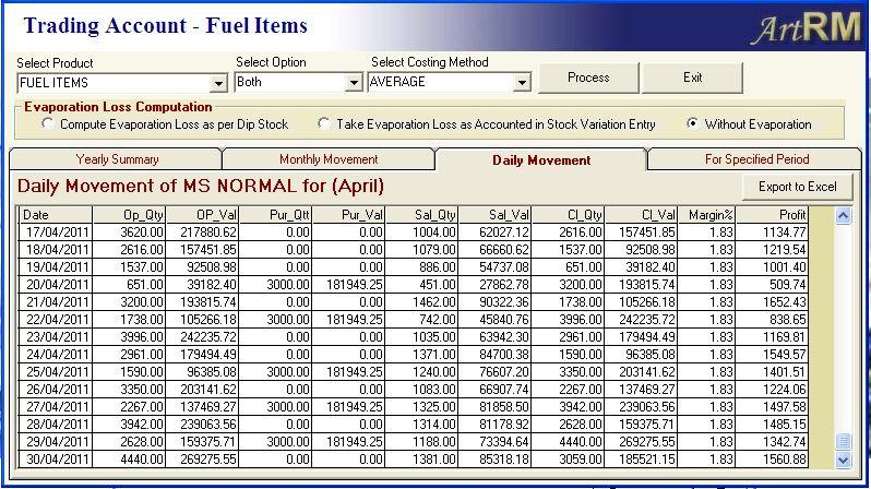 Purchase Register   Quicksoft ArtRM Petrolpump Blog