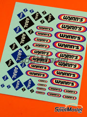 Virages: Calcas escala 1/24 - Aral, Wynns logos
