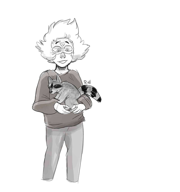 She found a trash friend!