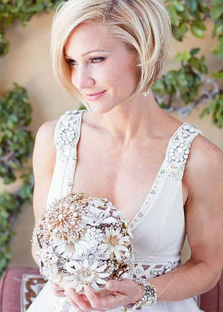 Best Bridal Hairstyles for Short Hair on Wedding Day