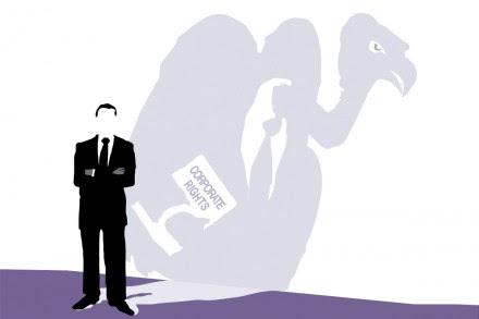 Unión Europea. Lucrar con la crisis. Ilustración: Corporate Europe