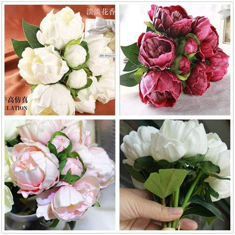 Wholesale Natural/ Real Touch PU Flowers Peony Buds