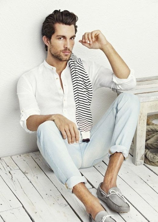 25 Stylish Hot Guys In Stripes -- Tobias Sorensen -- Light Denim and Loafers -- Mens Style -- Via HE By Mango photo 23-25-Stylish-Hot-Guys-In-Stripes-Tobias-Sorensen-Light-Denim-Loafers-Mens-Style-Via-HE-By-Mango.jpg