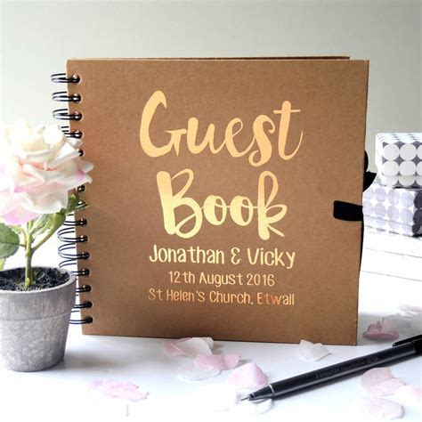 personalised wedding guest book by the alphabet gift shop