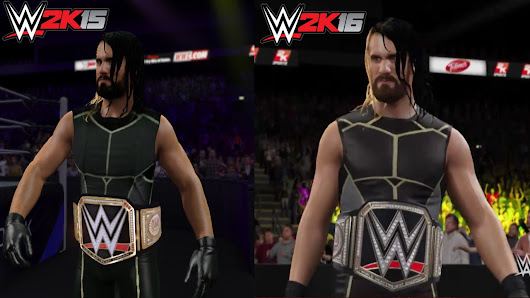 WWE 2K16 Vs 2K15 Seth Rollins Entrance Graphics Screenshot Comparison