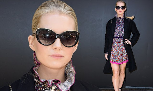 Lottie Moss dazzles at the Marc Jacobs NYFW show