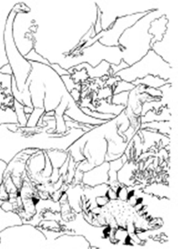 ausmalbilder dinosaurier fleischfresser - kinder zeichnen
