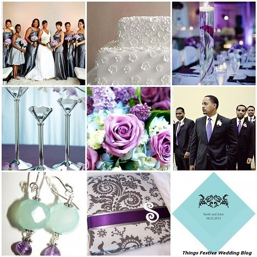 Wedding Color Palette Idea Tiffany Blue Charcoal Grey