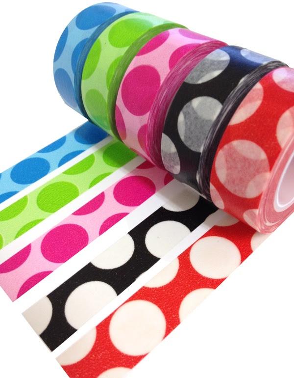 Washi polka dots...