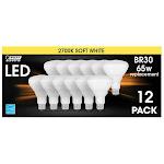 Feit Electric LED BR30 Flood Soft White 12-Pack