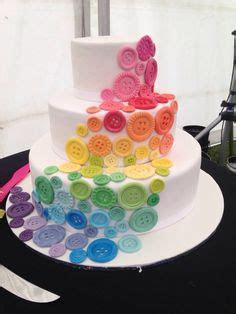 Cakes on Pinterest   Button Cake, Wedding cakes and Buttons