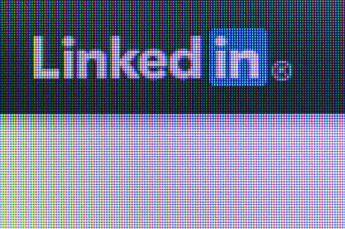 LinkedIn on computer screen