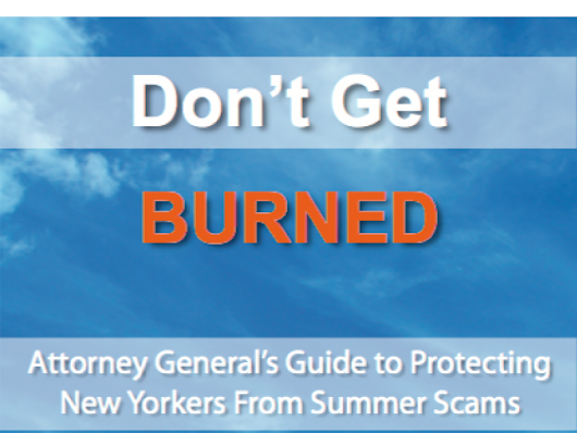 NY AG Warns Consumer of Summer Scams