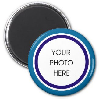 Blue and Navy Photo Frame Magnet