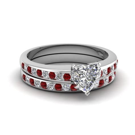 The most expensive wedding ring: White gold ruby wedding