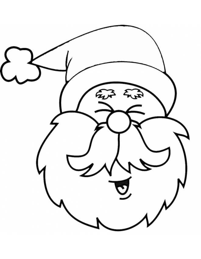 Stampa Disegno Di Viso Di Babbo Natale Da Colorare