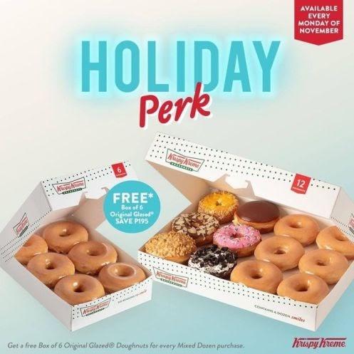 Krispy Kreme (Philippines) OG Card holders, kick the Monday blues away with the Holiday OG Card Perk
