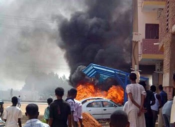 Demonstrations in Khartoum, Sudan over the withdrawal of fuel subsidies. The price of fuel has risen by 100 percent. by Pan-African News Wire File Photos