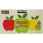 Kirkland Sauce, Apple, Organic - 24 pack, 3.17 oz