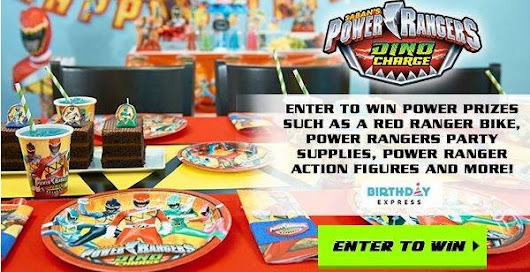 Birthday Express Power Rangers Giveaway (Ends 6/29)
