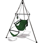 Hammaka Tripod Stand with Hunter Green Hanging Air Chair Combo
