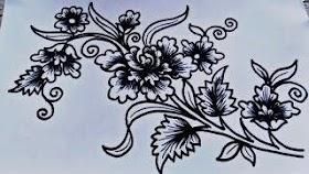 Sketsa Batik Alam
