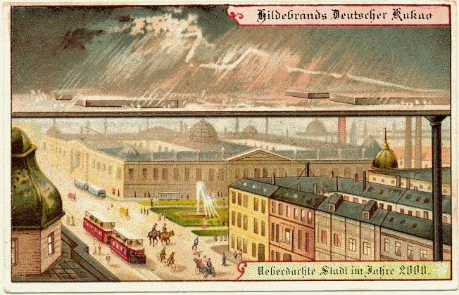 carte postale 2000 futur 09 En 1900, des cartes postales imaginent lan 2000  histoire featured design