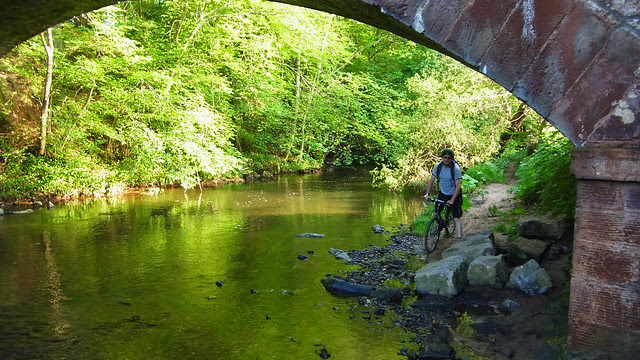 Mike under Saltoun Bridge