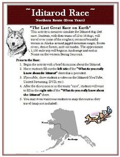 write an informative essay on the iditarod dog sled race