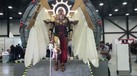 Cosplay of Saint Celestine from Warhammer 40 000 by Imgur user polinavish