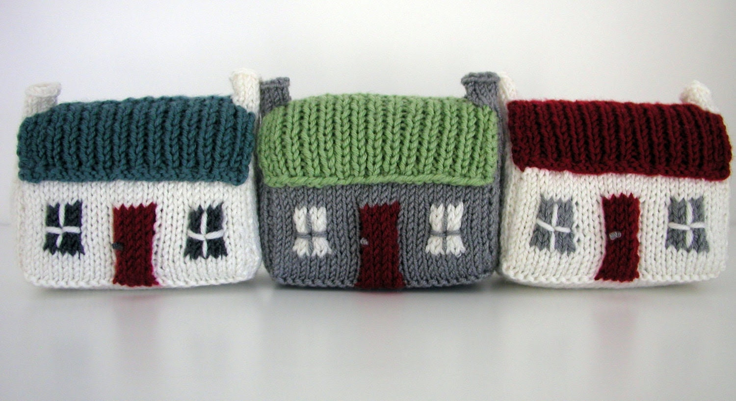 Knitting Pattern PDF Scottish Mini Red Roof Croft House