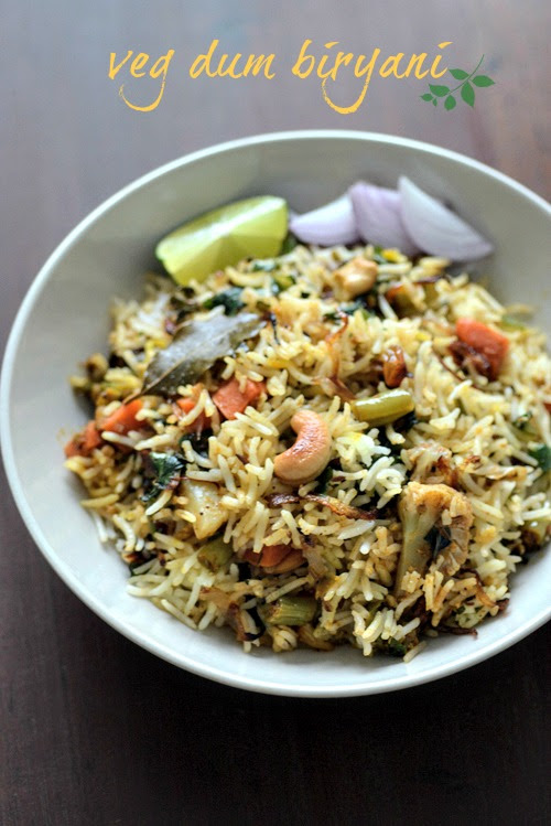 Hyderabadi Vegetable Dum Biryani, Veg Biryani Step by Step - Edible Garden