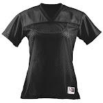 Augusta Women's Fit Replica Black Football Tees