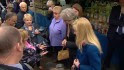 British PM confronted at outdoor market