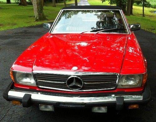 Find used 1980 Mercedes-Benz 450SL Red Convertible 2-Door ...